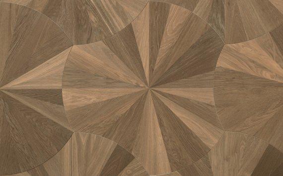 Ventaglio modular geometric wood floor. Design Panels.