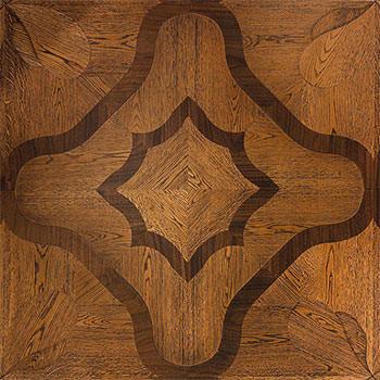 Pavimento geometrico Doge. Modulo heritage intarsiato a mano.