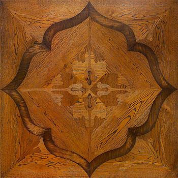 Siena modular geometric wood floor. Heritage Panels.