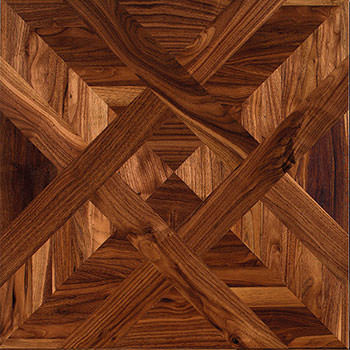 Pavimento geometrico Treviso. Modulo heritage intarsiato a mano.
