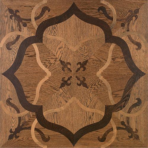 Pavimento geometrico Volterra. Modulo heritage intarsiato a mano.