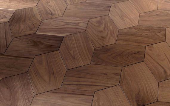 Напольное покрытие - геометрический модуль Ombre.  Модуль коллекции «Design», инкрустированный вручную.